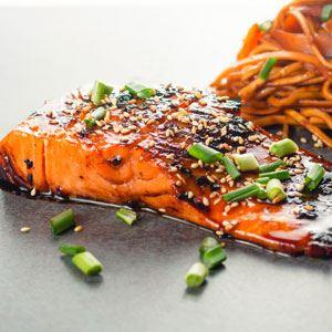 Sticky Teriyaki Salmon
