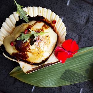 Scallops and Motoyaki Sauce - by Kobe Jones