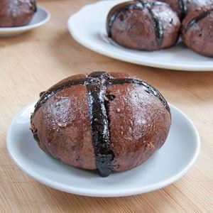 Chocolate Hot Cross Buns