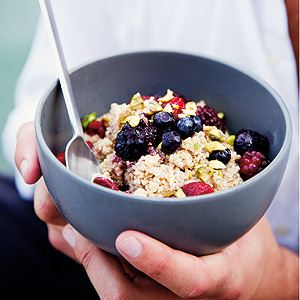 Quinoa Porridge with Spice and Berries - By Ian Thorpe
