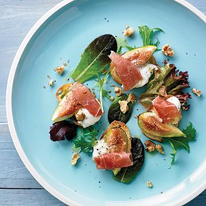 Honey Roasted Figs and Prosciutto Bruschetta with Burrata - Chef Recipe by Luca Ciano
