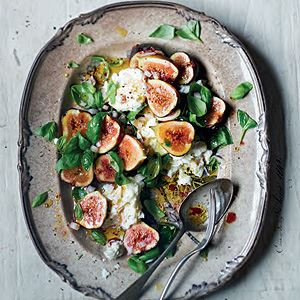Black Fig, Mozzarella and Basil Salad - Chef Recipe by Ursula Ferrigno