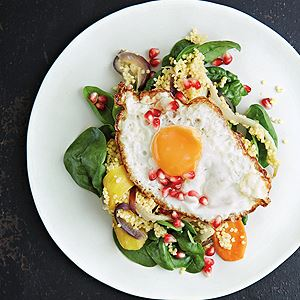 Millet, Roast Veggies, Pietro's Egg and Pomegranate - Chef Recipe by Peter Gordon