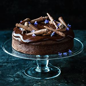 Decadent Chocolate Cake - Chef Recipe by Kirsten Tibballs