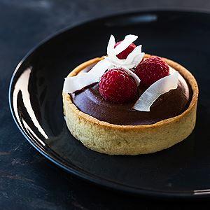 Coconut, Raspberry and Chocolate Tart - Chef Recipe by Kirsten Tibballs