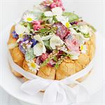 Melon Charlotte with Crystallised Flowers by Rachel Khoo