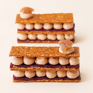 Chestnut and Blackcurrant Mille-Feuilles by Melanie Dupuis and Anne Cazor