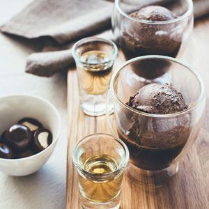Chocolate and Macadamia Affogato