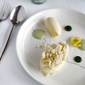 Quark Cheesecake, Nettle and Buttermilk Ice Cream - Chef Recipe by Robin Wickens