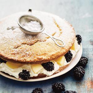 Blackberry and Apple Shortcake - by Trish Deseine