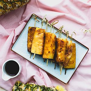 Caramelised Cinnamon and Lime Pineapple Skewers