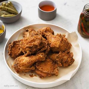 Southern Fried Chicken with Green Tomato Gravy - Chef Recipe by Brad McDonald