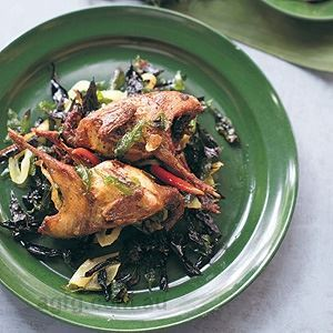 Roast Quail with Crisp Curry Leave - Chef Recipe by Luke Nguyen