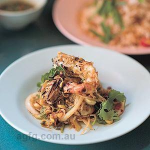 Char-grilled Spicy Prawn Salad - Chef Recipe by Luke Nguyen