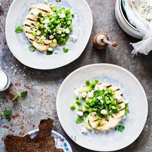 Cauliflower Steaks, Round Greens and Lemon Balm - Chef Recipe by Simon Bajada