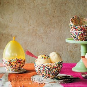 Chocolate Sprinkle Ice Cream Bowls - Recipe by Elise Strachan