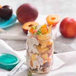 Stone Fruit Breakfast Jars