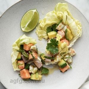 Ceviche Seafood Salad with Avocado, Coriander and Jalapeno - Chef Recipe by Neil Perry