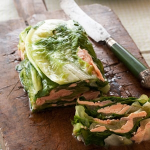Smoked Trout & Cos Lettuce Pressed Salad