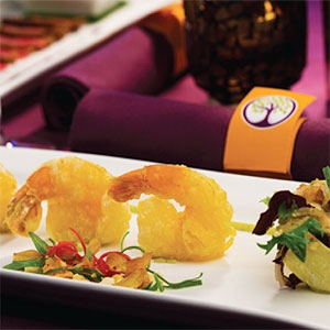 Tapioca Battered Prawns with Asian Aioli and Nashi Pear Salad