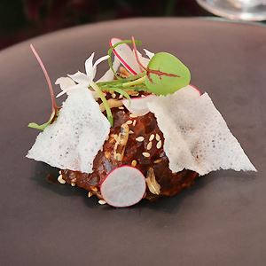 Tartare from the Sea: Yellowfin Tuna, Gochujang and Radish - Chef Recipe by Jason Camillo