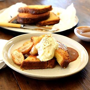 Maggie Beer's Brioche French Toast with Brandy Caramel and Bananas