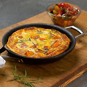 Maggie Beer's Sweet Potato Frittata with Fresh Tomato Salad