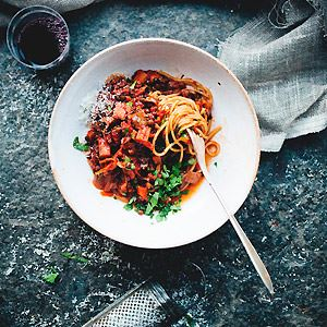 Black Lentil and Vegetable Bolognese