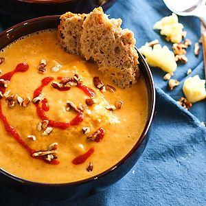 Vegan Persimmon Butternut Squash Soup