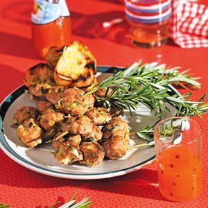 Zucchini, Mint and Turkey Polpettine Skewers - by Silvia Colloca