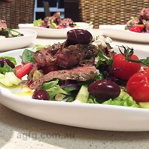 Attilios Italian Classic Rare Beef Salad - Chef Recipe by Shawn Sheather