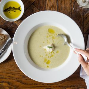 The Fish House Lemony Soup - Chef Recipe by Damien Styles