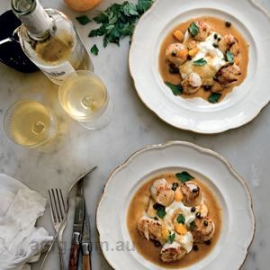 Sea Scallops with Cauliflower Purée and Capers by Mimi Thorisson