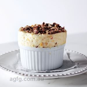 Frozen Apricot Souffle with Hazelnut Praline - Chef Recipe by Gabriel Gate