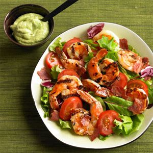 Crushed Avocados and Prawn Salad