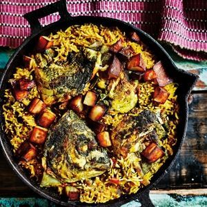 Bengali Fish Head Rice - by Anjum Anand