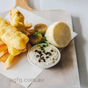 Tempura Fish and Chips with Homemade Tartar Sauce and Pickled Onions
