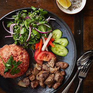 Scotch Fillet with Tomato Rice and Watercress Salad - by District 1 HCMC