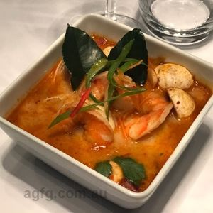 Tom Yum Prawn Soup by Fusiopia