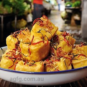 Tofu Pillows with Crispy Lemongrass - by Tracey Lister & Andreas Pohl