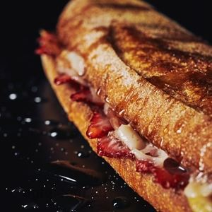 Strawberry, Prosciutto, Manchego and Honey Toasted Sandwich - Chef Recipe by Darren Purchese