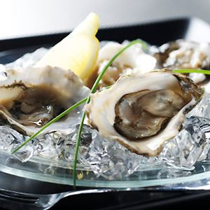Oysters with Grapefruit and Maraschino Dressing