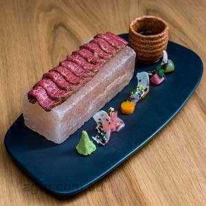 Sher Wagyu Tenderloin Tataki with Pickled Japanese Vegetables - Chef Recipe by Tom Ward