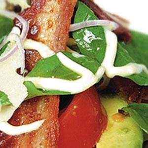 Tomato, Avocado and Crispy Bacon Salad