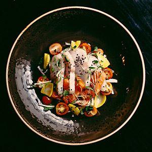 Hiramasa Kingfish and Petuna Ocean Trout Ceviche with Jicama and Cherry Tomato - Chef Recipe by Kristian Vale