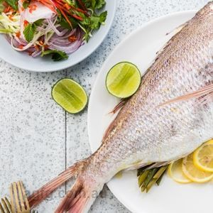 Steamed Whole Snapper with Green Mango Salsa, Chilli and Lime Dressing - Chef Recipe by Richard Ousby