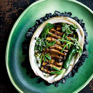 Abalone, Black Bean and Beach Herbs - Chef Recipe by Lennox Hastie