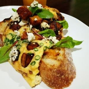 Caramelised  Pumpkin and Feta Omelette - Chef Recipe by Shawn Sheather