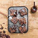 Hibiscus and Cherry Brownies with Coconut Caramel by Hayley McKee