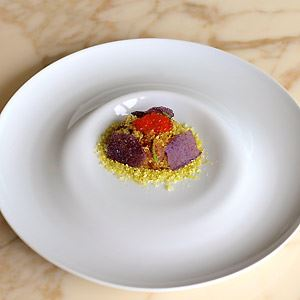 Yellowfin Tuna Crudo, Pistachio and Ocean Trout Roe - Chef Recipe by Alessandro Pavoni